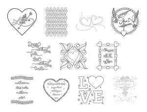 With All My Heart Journal Template Coloring Page Graphics