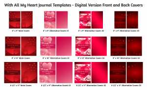 With All My Heart Journal Template Digital Version Covers