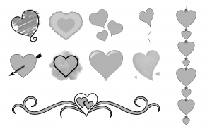 With All My Heart Journal Template Journal Graphics Grayscale