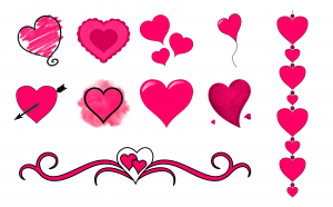 With All My Heart Journal Template Journal Graphics Hot Pink