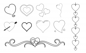With All My Heart Journal Template Journal Graphics Lineart