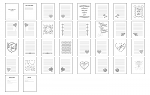With All My Heart Journal Template Print Version