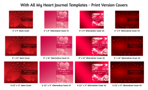 With All My Heart Journal Template Print Version Covers