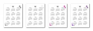 Zen PLR 2020 Unicorn Calendars Yearly Calendars