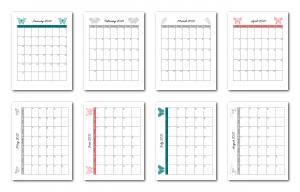 Zen PLR 2021 Butterfly Calendars Monthly Calendar Samples
