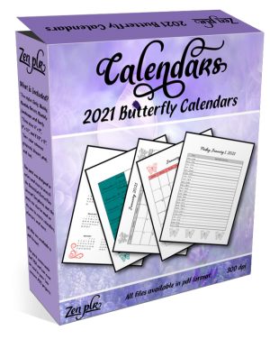 Zen PLR 2021 Butterfly Calendars Product Cover