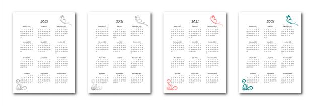 Zen PLR 2021 Butterfly Calendars Yearly Calendars