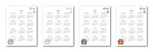 Zen PLR 2021 Cat Calendars Yearly Calendars