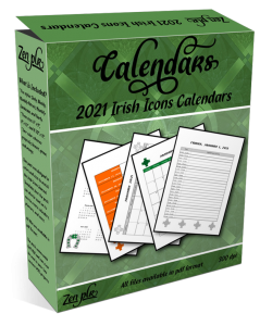 Zen PLR 2021 Irish Icons Calendars Product Cover