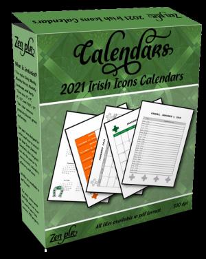 Zen PLR 2021 Irish Icons Calendars Product Cover
