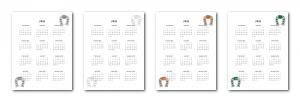 Zen PLR 2021 Irish Icons Calendars Yearly Calendars