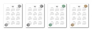 Zen PLR 2021 Seashell Calendars Yearly Calendars