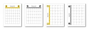 Zen PLR 2021 Sunflower Calendars Monthly Calendar Samples