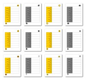 Zen PLR 2021 Sunflower Calendars Weekly Calendar Samples
