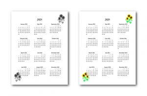 Zen PLR 2021 Sunflower Calendars Yearly Calendars