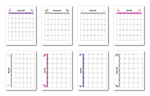 Zen PLR 2021 Unicorn Calendars Monthly Calendar Samples