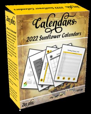 Zen PLR 2022 Sunflower Calendars Product Cover