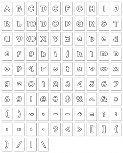 Zen PLR Alphabets, Numbers, and Punctuation Wearin' of the Green White Outlined