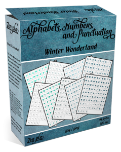 Zen PLR Alphabets, Numbers, and Punctuation Winter Wonderland Product Cover