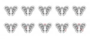 Zen PLR Beautiful Butterflies Journal Templates Upgrade Find the Differences Butterfly 01