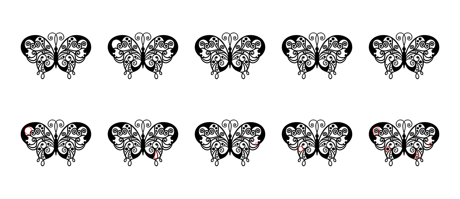 Zen PLR Beautiful Butterflies Journal Templates Upgrade Find the Differences Butterfly 02