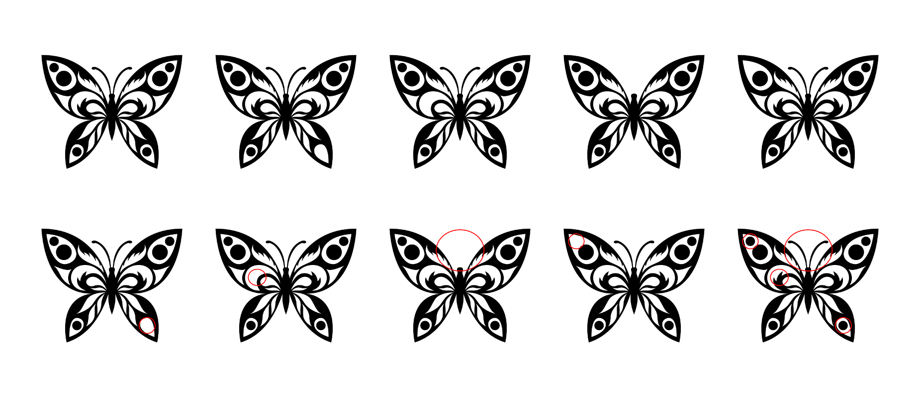 Zen PLR Beautiful Butterflies Journal Templates Upgrade Find the Differences Butterfly 03