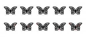 Zen PLR Beautiful Butterflies Journal Templates Upgrade Find the Differences Butterfly 04
