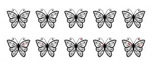 Zen PLR Beautiful Butterflies Journal Templates Upgrade Find the Differences Butterfly 05