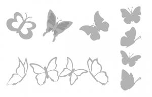 Zen PLR Beautiful Butterflies Journal Templates Upgrade Journal Page Graphics Grayscale