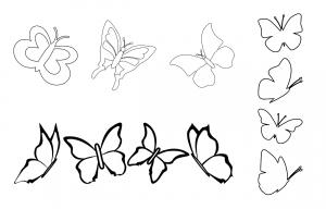 Zen PLR Beautiful Butterflies Journal Templates Upgrade Journal Page Graphics Lineart