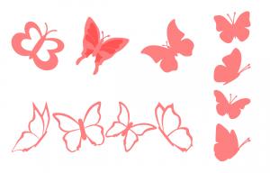 Zen PLR Beautiful Butterflies Journal Templates Upgrade Journal Page Graphics Pink