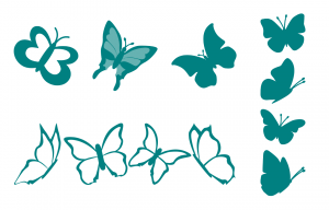 Zen PLR Beautiful Butterflies Journal Templates Upgrade Journal Page Graphics Teal