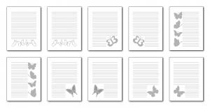 Zen PLR Beautiful Butterflies Journal Templates Upgrade Journal Pages Grayscale Digital
