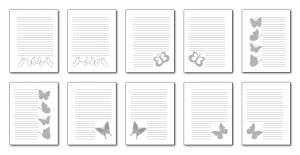 Zen PLR Beautiful Butterflies Journal Templates Upgrade Journal Pages Grayscale Print