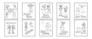 Zen PLR Bonus for A Cup of Zen Halloween Kit Coloring Pages