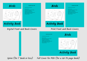 Zen PLR Bonus for ColorMePositivePLR Birds Coloring Book Kit Activity Book Covers