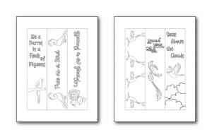 Zen PLR Bonus for ColorMePositivePLR Birds Coloring Book Kit Bookmarks