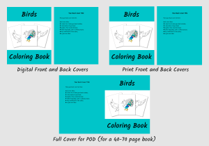 Zen PLR Bonus for ColorMePositivePLR Birds Coloring Book Kit Coloring Book Covers