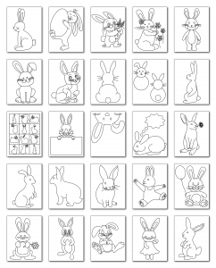 Zen PLR Coloring Pages Bunnies All Graphics
