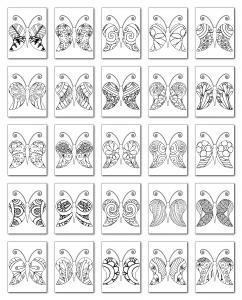 Zen PLR Coloring Pages Butterflies Volume 01 All Graphics
