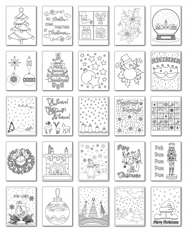 Zen PLR Coloring Pages Christmas All Graphics