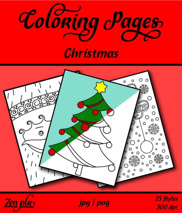 Zen PLR Coloring Pages Christmas Front Cover