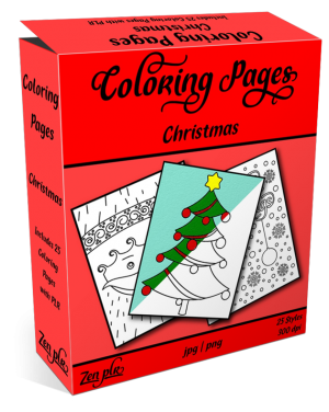 Zen PLR Coloring Pages Christmas Product Cover