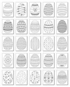Zen PLR Coloring Pages Easter Yeggs All Graphics