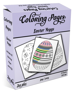 Zen PLR Coloring Pages Easter Yeggs Product Cover