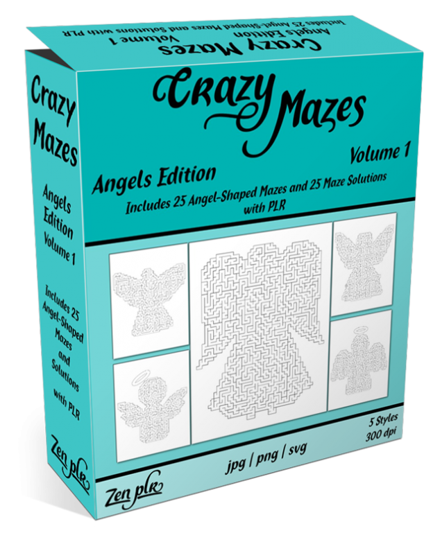 Zen PLR Crazy Mazes Angels Edition Volume 01 Product Cover