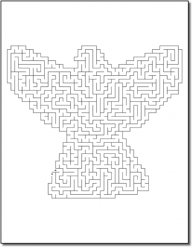 Zen PLR Crazy Mazes Angels Edition Volume 01 Sample Maze 02