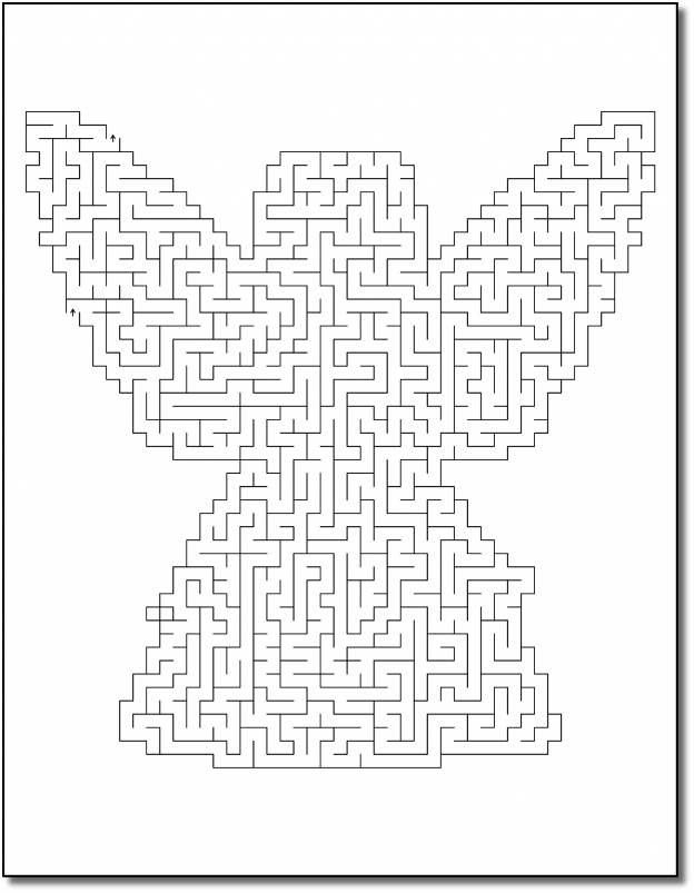 Zen PLR Crazy Mazes Angels Edition Volume 01 Sample Maze 03