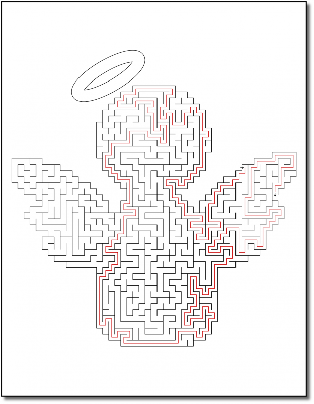 Zen PLR Crazy Mazes Angels Edition Volume 01 Sample Maze 04 Solution