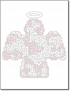 Zen PLR Crazy Mazes Angels Edition Volume 01 Sample Maze 05 Solution